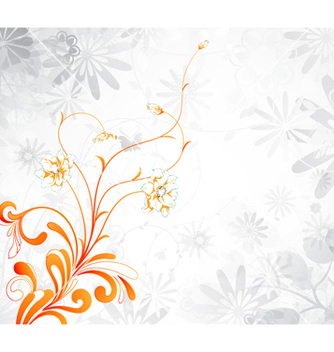 Free abstract floral background vector - Free vector #257951