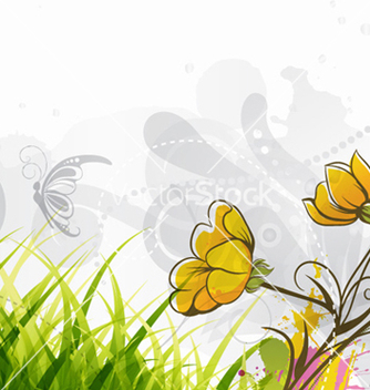 Free colorful floral background vector - Free vector #258161