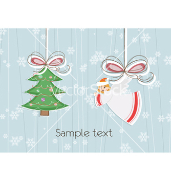Free angel with tree vector - Kostenloses vector #258241