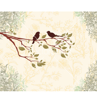 Free birds on a branch vector - vector gratuit #258261