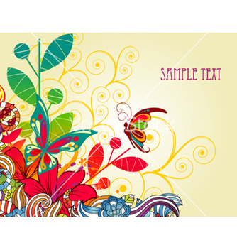 Free colorful floral background vector - Kostenloses vector #258441