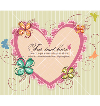 Free heart with floral vector - vector #258571 gratis
