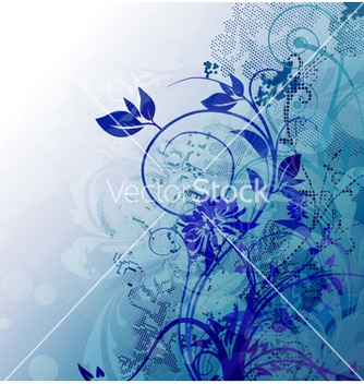 Free abstract floral background vector - Free vector #258811
