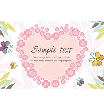 Free abstract floral frame vector - Free vector #258851