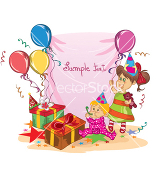 Free kids birthday party vector - Kostenloses vector #258871