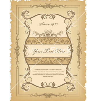 Free vintage label vector - бесплатный vector #258941