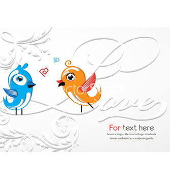 Free love birds vector - vector #258951 gratis