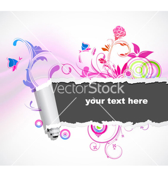 Free torn cardboard with abstract background vector - vector #259141 gratis