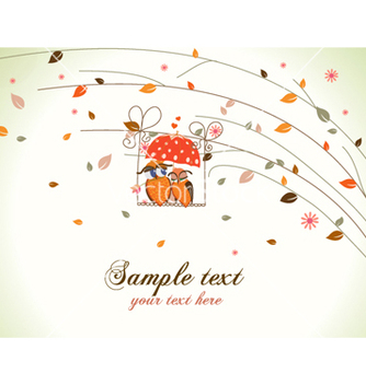 Free love birds with floral vector - vector #259181 gratis