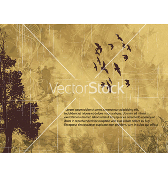 Free grunge background with tree vector - vector #259231 gratis