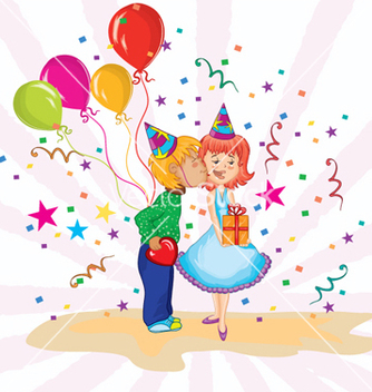 Free kids birthday party vector - Kostenloses vector #259241
