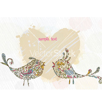 Free doodles background with colorful birds vector - Kostenloses vector #259381