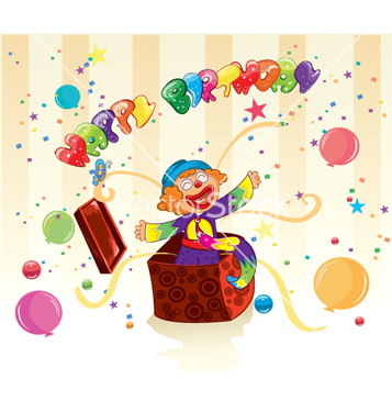 Free happy birthday vector - vector gratuit #259431