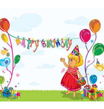 Free kids birthday party vector - Free vector #259441
