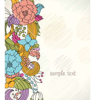 Free retro floral background vector - Kostenloses vector #259461