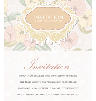 Free vintage invitation vector - бесплатный vector #259631