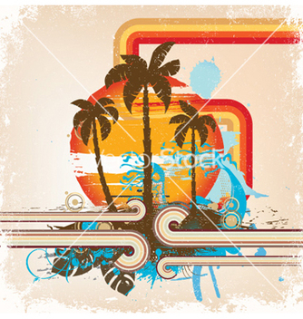 Free grunge summer background vector - Free vector #259671