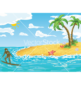 Free surfer girl in water vector - Free vector #259871