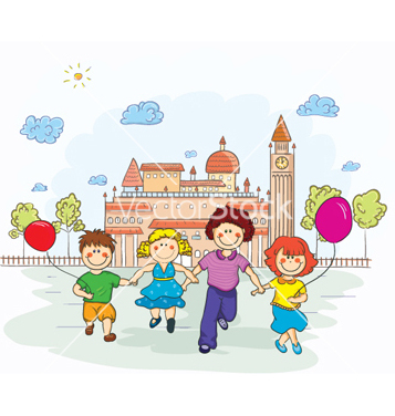 Free kids playing vector - Free vector #259921
