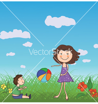 Free mom playing with son vector - vector #259931 gratis