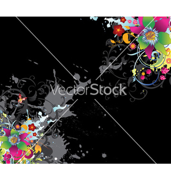 Free watercolor floral background vector - бесплатный vector #259941