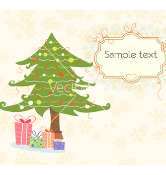 Free presents with tree vector - бесплатный vector #259951