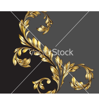 Free vintage gold floral background vector - Kostenloses vector #260111