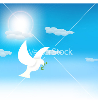 Free pigeon with olive branch vector - vector gratuit #260131