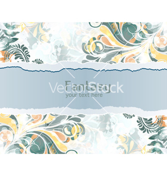 Free torn cardboard with colorful swirls vector - Kostenloses vector #260181