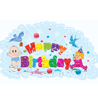 Free happy birthday vector - vector #260421 gratis