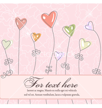Free abstract frame with hearts vector - Free vector #260491