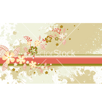 Free autumn floral background vector - Free vector #260571