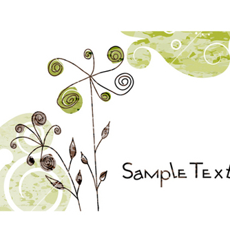 Free watercolor greeting card vector - бесплатный vector #260611