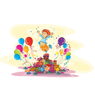 Free kids birthday party vector - Free vector #260771