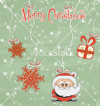 Free christmas greeting card vector - Kostenloses vector #260861