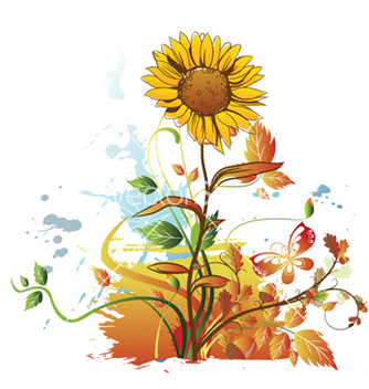 Free watercolor floral vector - бесплатный vector #260881
