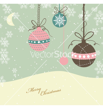 Free christmas greeting card vector - Free vector #260981