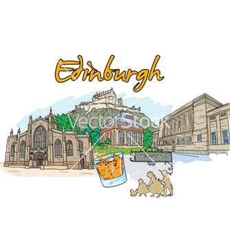 Free edinburgh doodles vector - бесплатный vector #261241