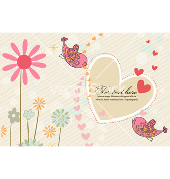 Free birds in love vector - vector #261371 gratis