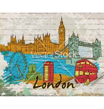 Free london doodles vector - vector gratuit #261491