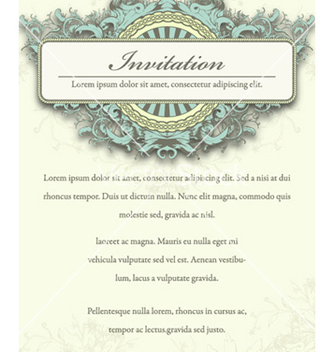 Free vintage invitation vector - бесплатный vector #261661