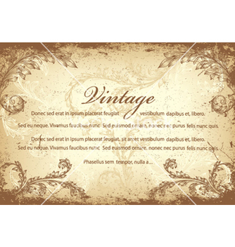 Free vintage invitation vector - бесплатный vector #261671