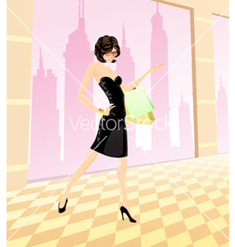 Free shopping girl vector - Kostenloses vector #261711