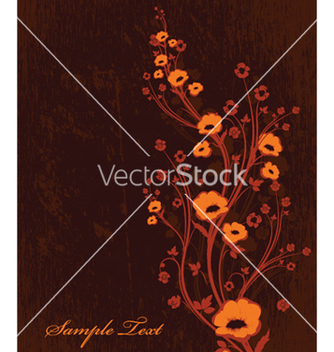 Free autumn floral background vector - Free vector #261831