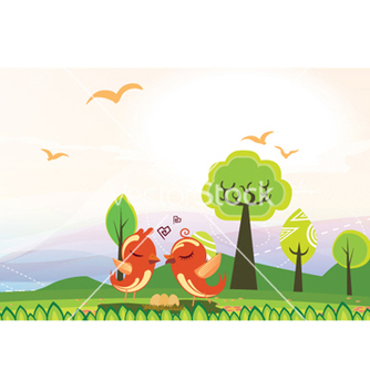 Free love birds vector - vector #261961 gratis