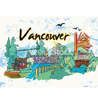 Free vancouver doodles vector - Free vector #262011