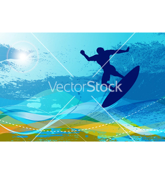 Free surfer with waves vector - Kostenloses vector #262031