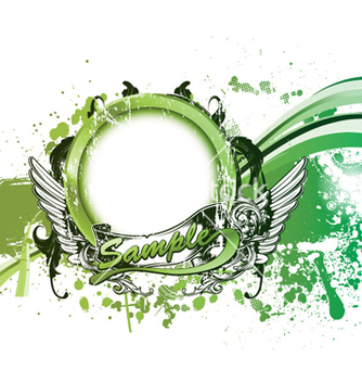 Free grunge green background vector - Free vector #262081