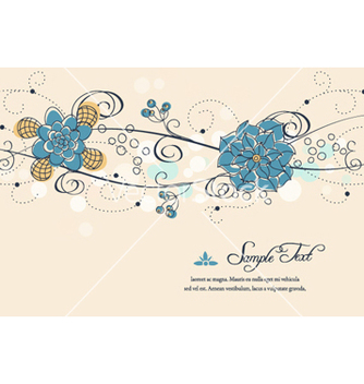Free colorful floral vector - vector #262121 gratis