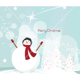 Free christmas greeting card vector - vector #262231 gratis